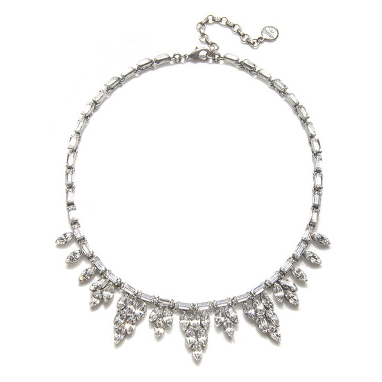Vintage-inspired crystal bridal necklace