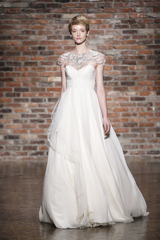 A-Line Beaded Wedding Dress