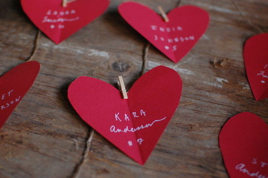 red heart diy wedding escort cards