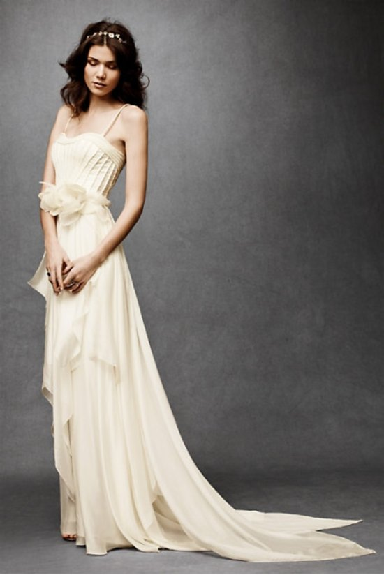 Grecian-inspired beach wedding dress by BHLDN
