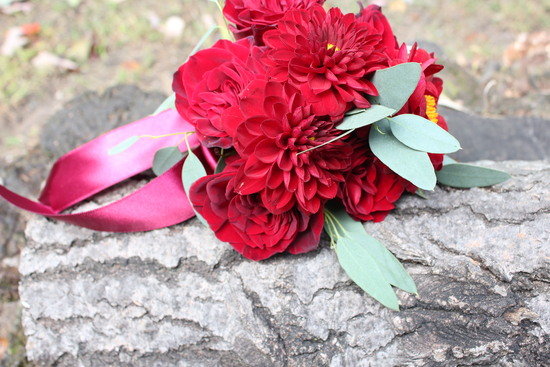 Classic Red Wedding Bouquet