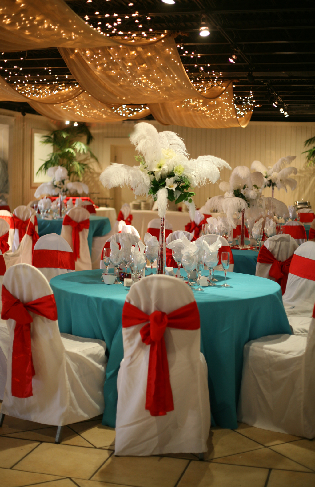 Red Blue And Gold Wedding Theme