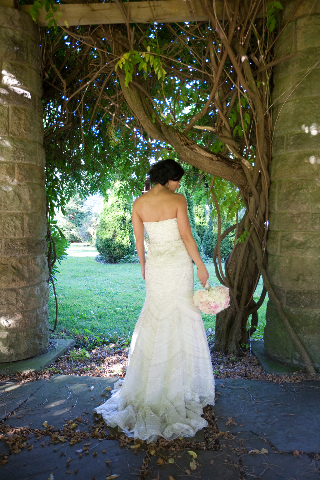 classic strapless wedding dress