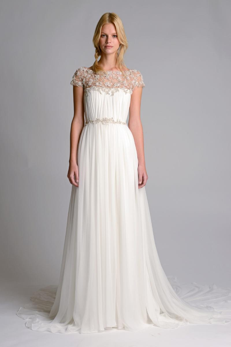 kaftan inspired sleeved wedding dress by marchesa marchesa wedding dresses