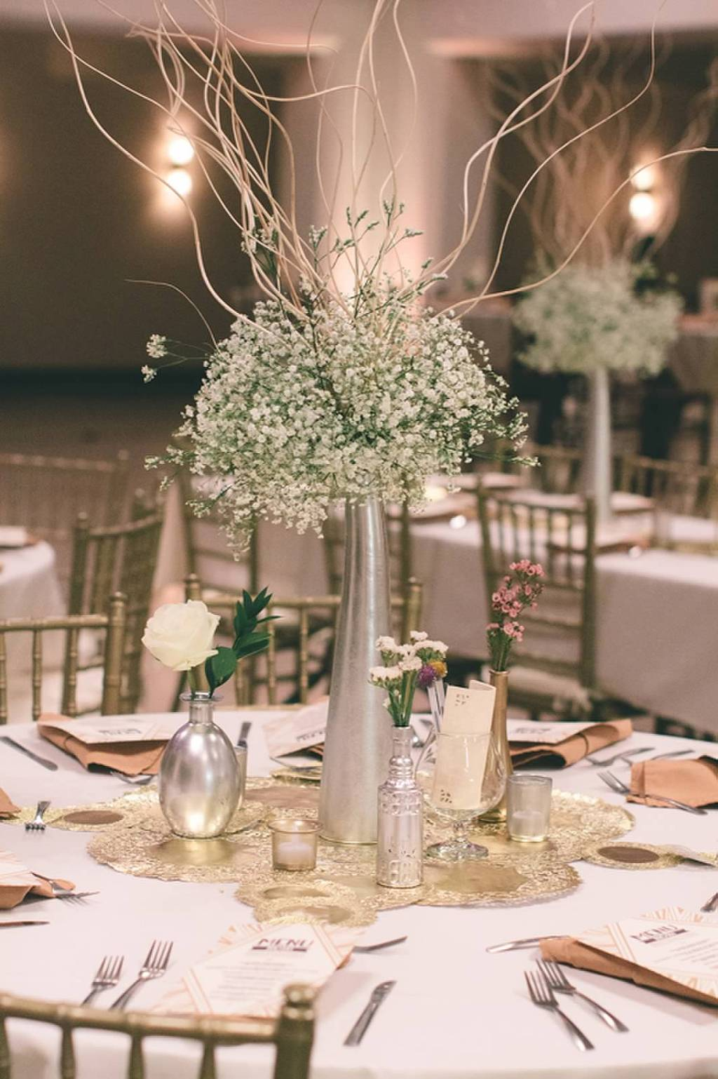 Modern white centerpiece for Modern centerpieces for tables