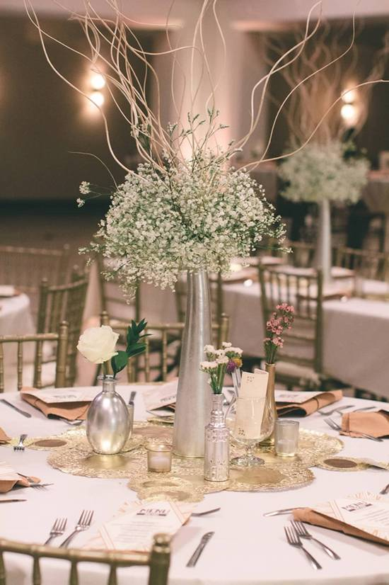 Tall centerpiece @ round table
