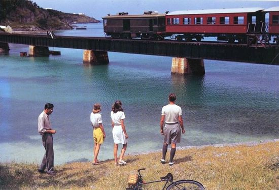 old Bermuda railway for honeymooners