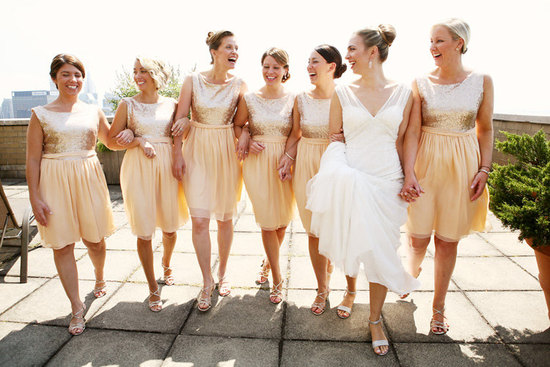 peach sequin bridesmaid dresses2