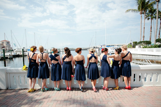 Convertible navy blue bridesmaid dresses