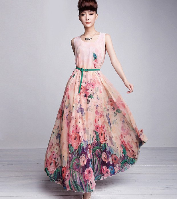 long floral print bridesmaid dress fashion gallery With long floral dress for wedding
