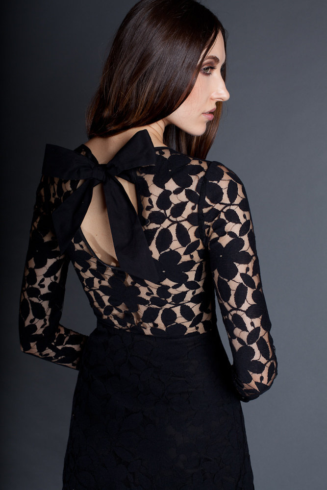 Sheer-lace-back-black-bridesmaid-dress.full