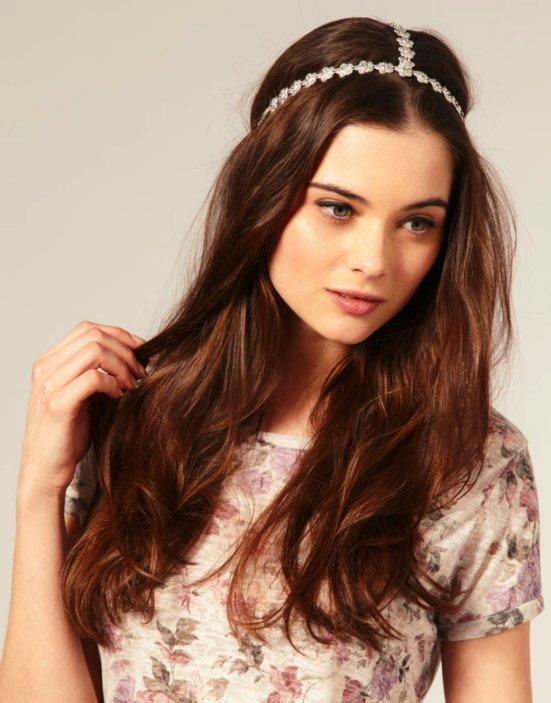 Peachy Bohemian Chic Wedding Hairstyles And Claire Pettibone Accessories Short Hairstyles Gunalazisus