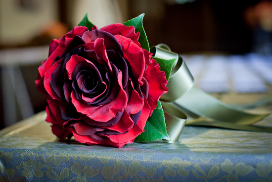 red rose glamelia wedding bouquet