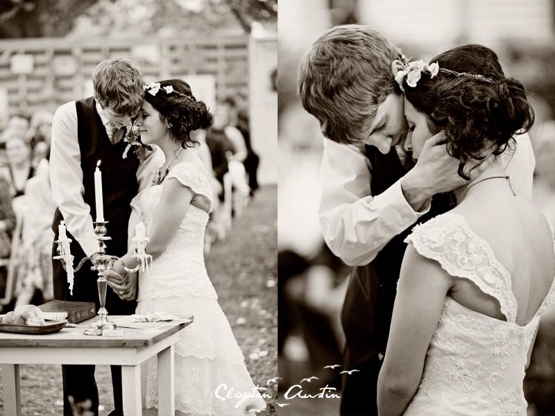 Top Garden Wedding Trends: Bohemian Bride Wears Floral Wedding Hair Wreath And Cap