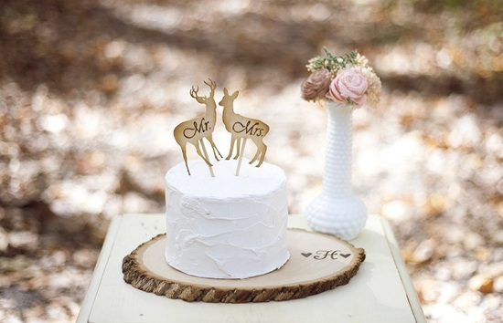 Pnz Designs Deer Cake Topper
