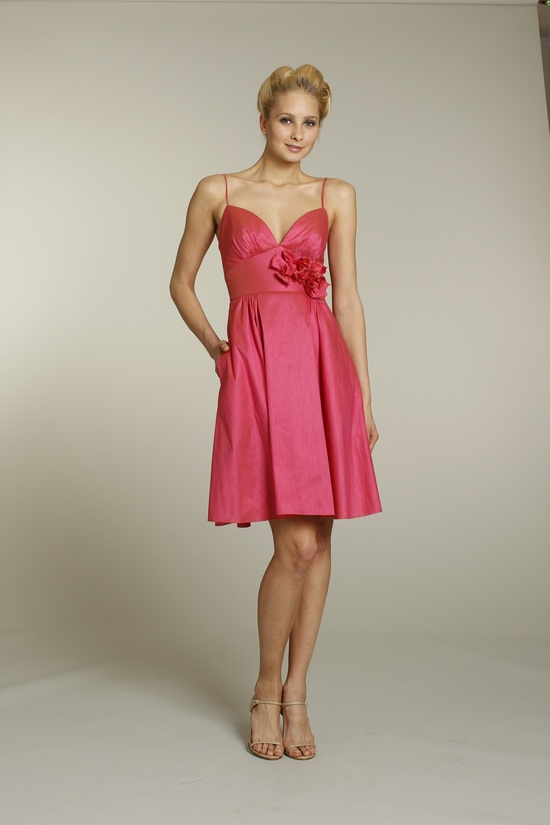 Girly pink bridesmaid dress