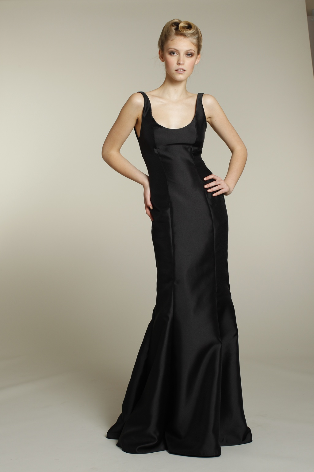 Long black bridesmaid dress sophisticated long black bridesmaid dress ombrellifo Choice Image
