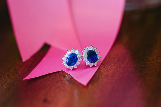 sapphire and diamond wedding earrings for the brides something blue