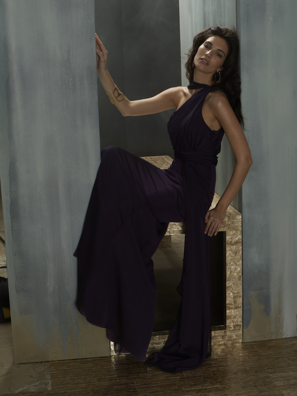 Deep Purple Wedding Dresses : Grecian inspired bridesmaid gown in deep purple onewed