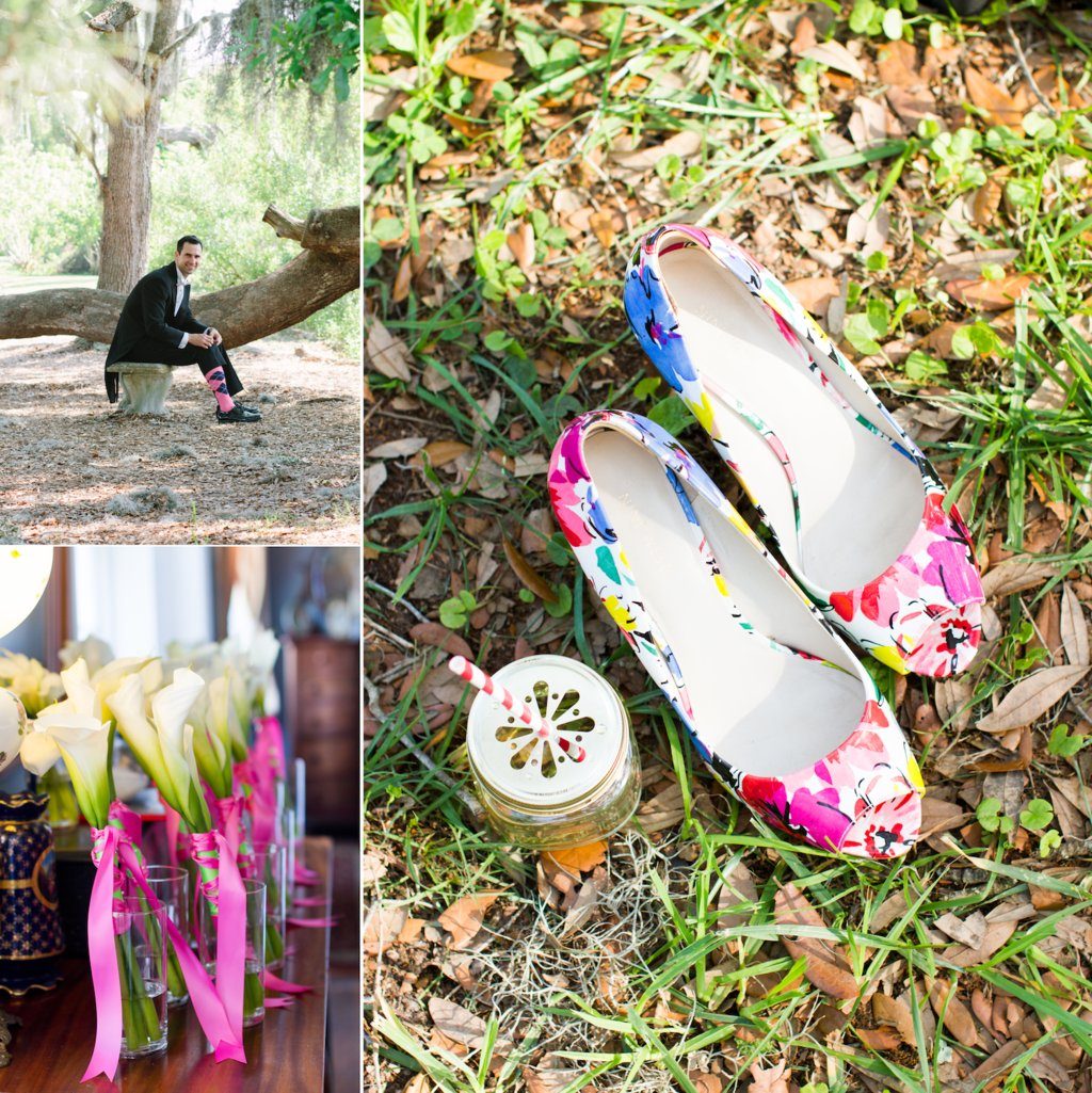 Bright-south-carolina-wedding-bouquets-and-grooms-socks.full