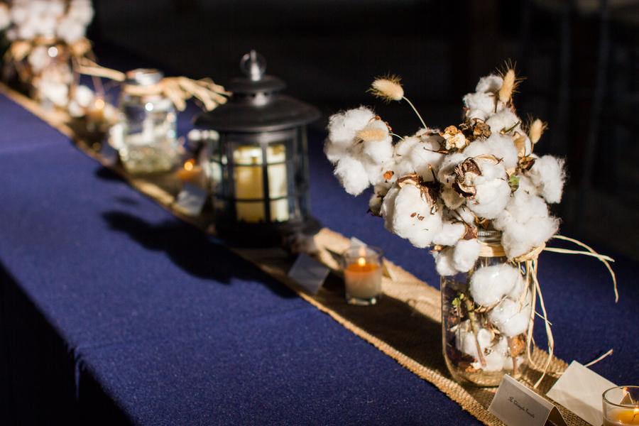 Rustic-wedding-centerpieces-of-fresh-cotton-in-mason-jars.full