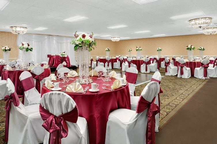 Maroon Themed Wedding Reception
