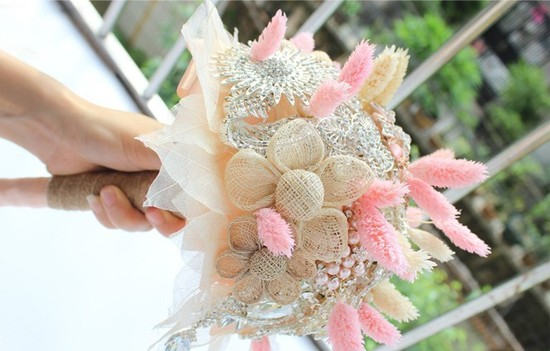Artificial Pink Bouquet