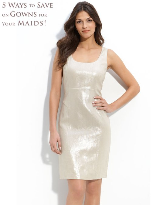 photo of Calvin Klein bridesmaid dress from Nordstrom- only $64 with 50% off!
