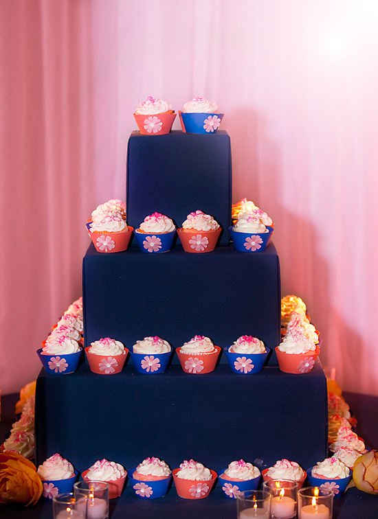 Funky cupcake tree instead of traditional wedding cake
