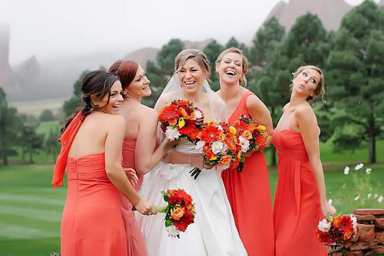 Burnt Orange Bridesmaids Dress