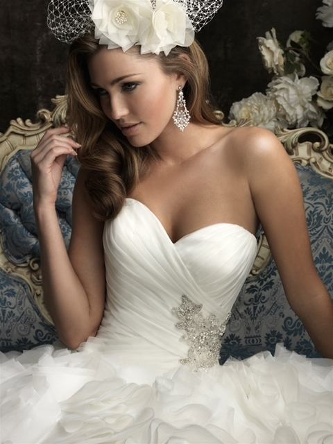 Modern Strapless Wedding Dress