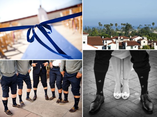 Funky groom and groomsmen socks, classic wedding ceremony decor