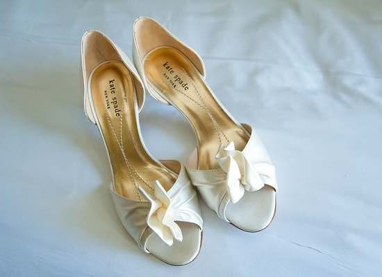 Ivory Kate Spade wedding shoes