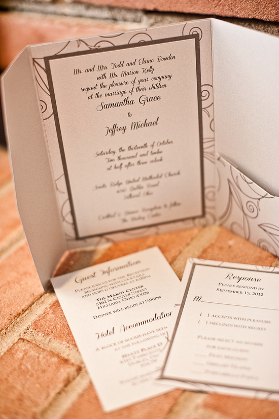Classic Brown Wedding Invitations