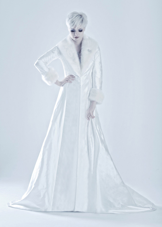 Marjolein bridal coat for winter weddings