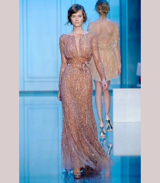 Short wedding reception dress by Elie Saab