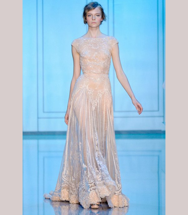 photo of Elie Saab Dresses: Sleeves, Beads and Sheer Illusion Necklines