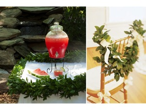 photo of DIY Wedding Project: Summer Ceremony Garland