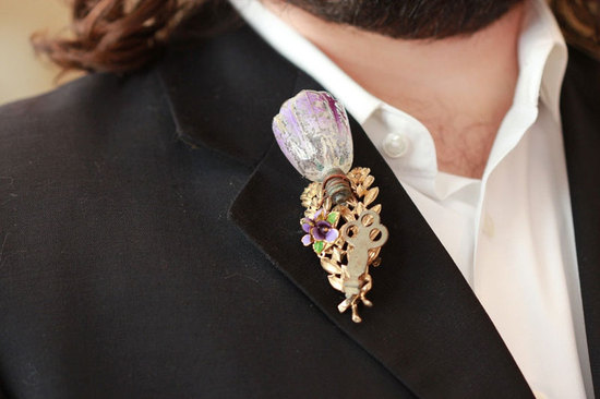 Unique groom boutonnieres by The Ritzy Rose 1