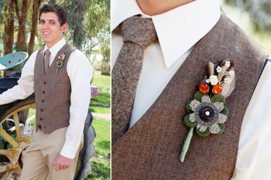 Inspired grooms boutonnieres