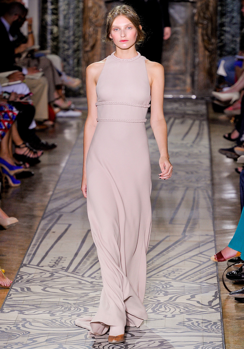 Dove grey halter wedding dress by Valentino