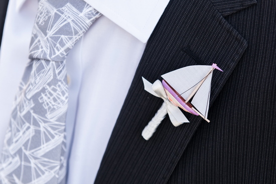 Unique grooms boutonniere for sailors