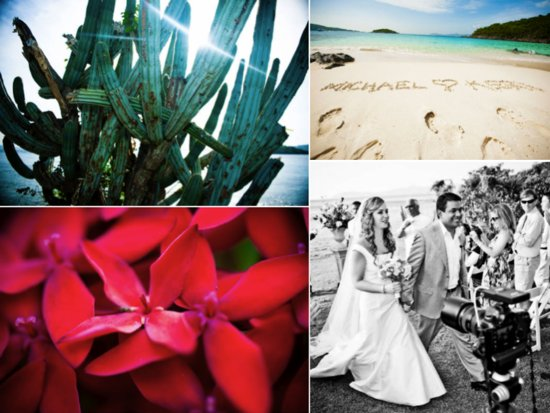 Tropical destination wedding venue in St. John
