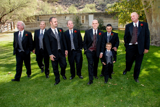 Groom and Groomsmen Boutonniere