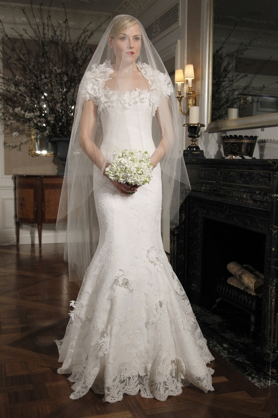 2012 Legends by Romona Keveza mermaid wedding dress with textured cap sleeved bolero