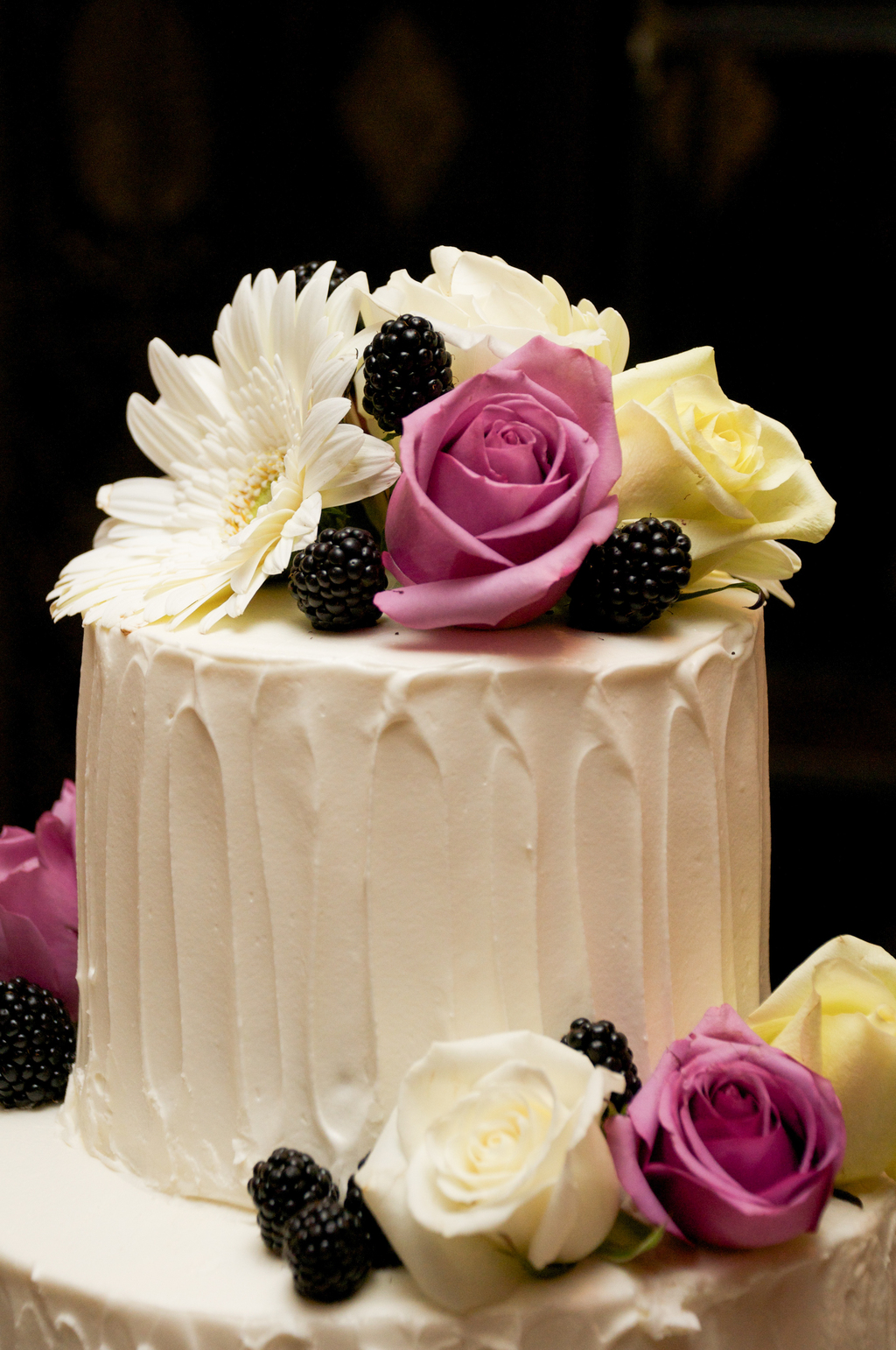 DIY White Wedding Cake