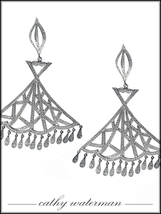 Chandelier bridal earrings by Cathy Waterman