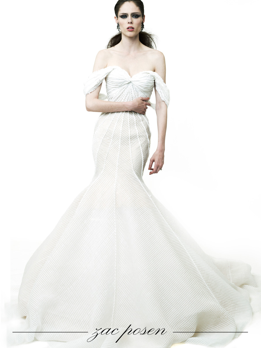 mermaid wedding dress by Zac Posen