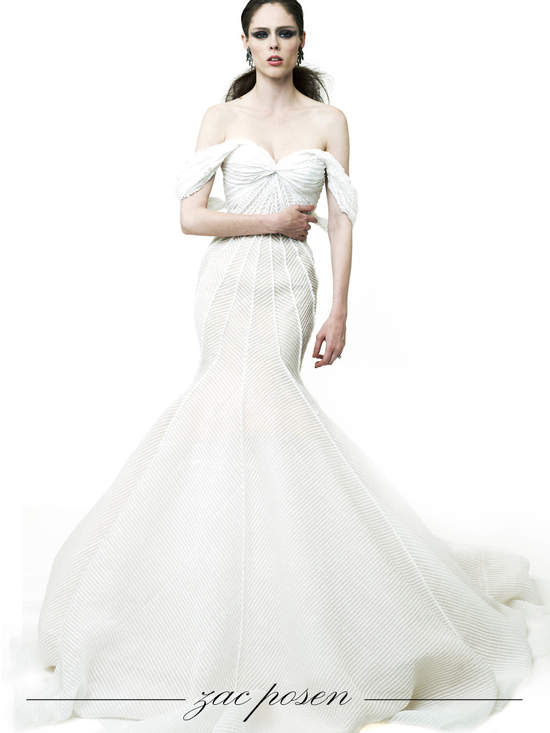 Dramatic mermaid wedding dress by Zac Posen