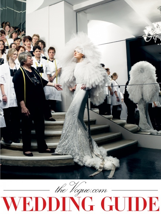 High fashion 2011 wedding inspiration from Vogue